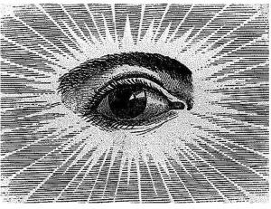 This is the All Seeing Eye. It's God's Eye.