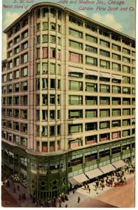 Sullivan, along with his partner Dankmar Adler designed the Carson Pirie Scott Building. It was erected in 1899.