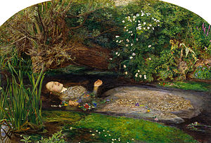 Ophelia (1851-1852) I refer to this painting in my book The Odd Fellows. This has to be the finest example of Pre-Raphaelite painting.