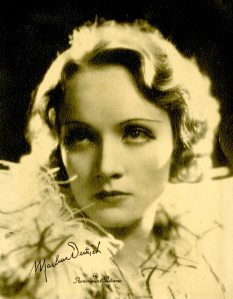 Marlene Dietrich. Her big splash was in The Blue Angel but I prefer her in The Scarlet Empress and A Foreign Affair.