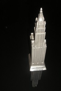 The Woolworth Building is part of my collection. This building was made by Microcosms. The guy that ran that company made some terrific souvenir buildings.