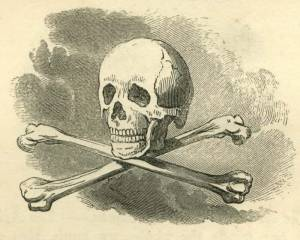 This is the Skull and Crossed Bones. This symbol reminds us that we are not only part of the earthly world but that we must the remains of brothers to their graves. I used this image for Chapter 7: The Crucifixion.