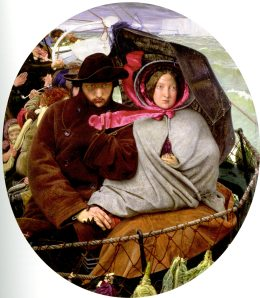 The Last of England (1852-1855) has to be his most famous painting. That is a young Ford Maddox Brown in the image.