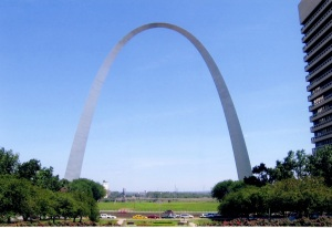 While in St. Louis I also went to the St. Louis Arch. It's a great structure. You can go to the top in egg shaped cars that seat five. The picture I use on my Bold Strokes Books author page was taken while I waited in line to board one of those egg shaped cars at the St. Louis Arch.