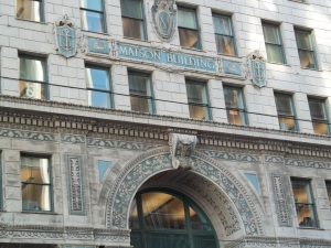 I went to San Francisco in 2015 and when we were walking toward the Ferry Building I saw this building. The Matson Line had ships that went between the west coast and Hawaii.