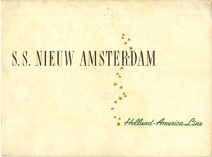 A 1950s brochure for the S.S. Nieuw Amsterdam.