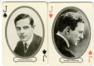 They're playing cards from the 1920s. On the backs there is a scene from Ben-Hur. Two great stars.