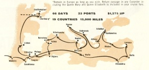 This is from inside the Britannic brochure. It's the route the ship would take.