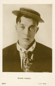 It's Buster Keaton. My brother recently sent me a copy of Steamboat Bill, Jr. to watch. I had never seen the film. It was very amusing. I especially liked the hat scene. Some of those hats were pretty cool.