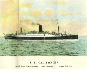I like htis tinted photograph of the ship.