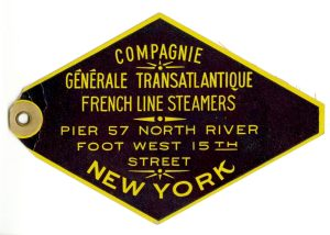 A great baggage tag from the Compagnie Generale Transatlantique