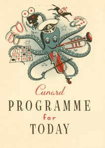 It's a Cunard program for the Queen Mary.