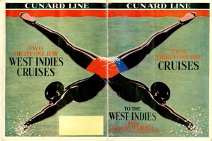 Another great graphic from the Cunard Line. It would be great to sail in 1929 before the depression on the S.S. California.