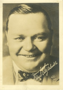 It's not the best picture of him but I like it. Fatty Arbuckle was a big star in the early 20s and he lived down by AAA on Adams Blvd. in Los Angeles. His house is still there.