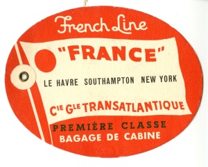 It's a baggage label for the France.