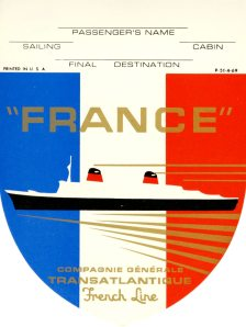 A very cool baggage label for the France.