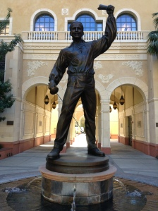 On the University of Southern California campus there is a statue of Doug.