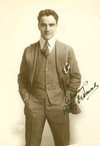 I know practically nothing about this silent film actor but I really like this photograph. He looks so confident.