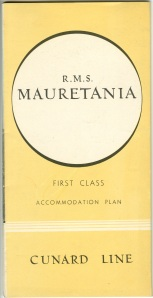 R. M. S. Mauretania brochure. These brochures were very detailed.