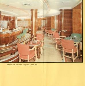 The Mauretania's 1st class lounge.