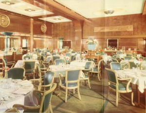 The Mauretania's First Class Restaurant.