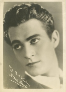 GiIbert Roland. This is around the time he was dating one of the Talmadge sisters.