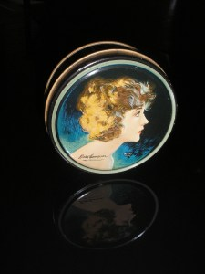 Betty Compson. She was a Paramount star and looks beautiful on this tin.