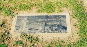 I went to his grave out in Whittier. I should have cleaned it before I took the picture.