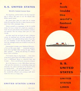 S.S. United States is referred to in this brochure as a superliner.