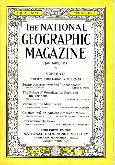 It's the first story in this 1925 issue of the National Geographic. It's a really long article and it's fantastic that Junius B. Wood and Natioanl Geographic documented the Shenandoah.