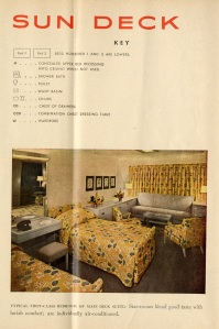 The gay decorator must have been on a break when this bedspread and those curtains were approved for this suite.