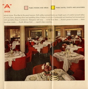 "Here's an image of the dining room. Very red. I would pass on the ""Kangaroo Tail Soup."" It sounds icky."