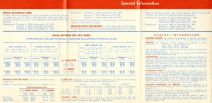 From the sailing schedule above are these listed rates.