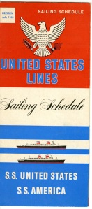 This is a sailing schedule for the United States and America.