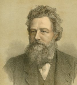 William Morris (1834-1896). I found this image at an antique store in Burbank, CA. It was 50 cents and it looks like it came out of a 19th century book.
