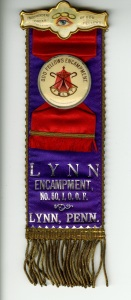 I bought this badge in November of 2015. I bought it because I like the color and because it's an encampment badge. Sometimes, I'm not quite sure what an encampment is though.
