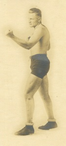 I found this boxer recently. There is no identification on the back of the photo but I think the photo is circa 1915.