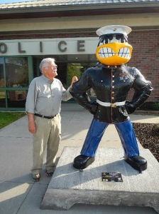 That's my friend Bob with Officer Herky.