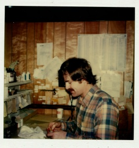 Here's another picture of Bob that I took in the early 80s with a Polaroid camera.