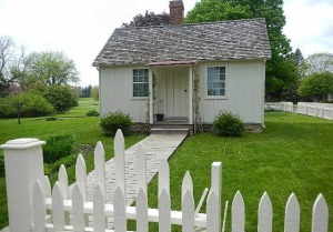 "Hoover's birthplace is also located in West Branch. It must be about 100 square feet total. I am never going to complain about my 500 square foot place ever again. Hoover said his boyhood home is ""physical proof of the unbounded opportunity of American life."""