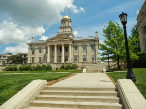 This is the Old Capital Building on the University of Iowa campus. Iowa became a state in 1846 and the University of Iowa was founded in 1847.