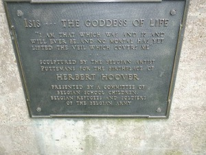 What the plaque says...