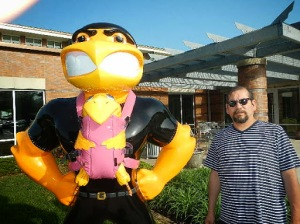 This is a Herky parent with baby Herky. Somebody pulled off the baby's feet!