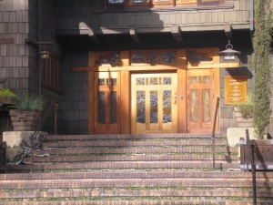 The entrance.
