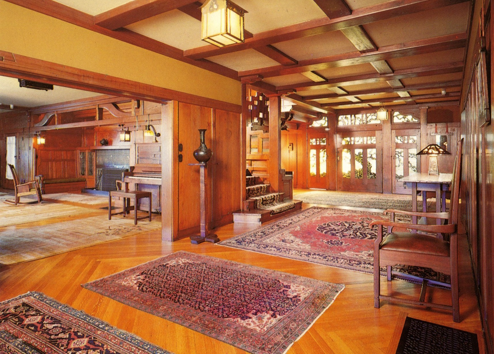 Interior View Of Gamble House. This Is A Postcard I Bought While At The  Gamble Part 6