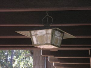 This is the light fixture hanging under the sleeping porch.