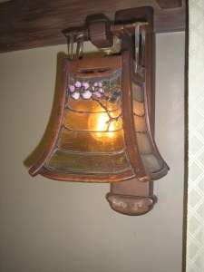 This is a light fixture from the first floor bedroom which would be to the left upon entering the house.