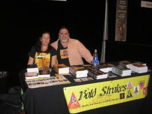 Two other Bold Strokes Books authors that I met over the weekend -- Jess Farway and Daniel Kelley.