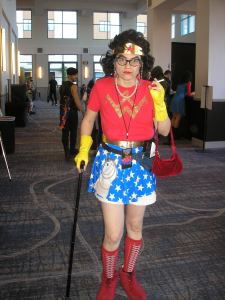 Wonder Woman what happened? I think it's a guy.