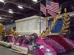 On the 31st I stopped by the barn to see the finished float. It looks great!